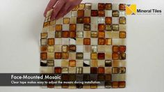 Stained Glass Mosaic Tile Amber 1x1 - 120HIARKE11MB http://www.mineraltiles.com/stained-glass-mosaic-tile-amber-1x1/
