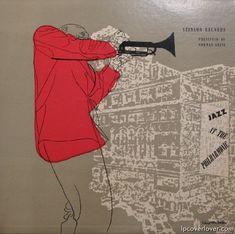 Jazz at the Philharmonic, Label: Stinson SLP-23(1950), Design: David Stone Martin.