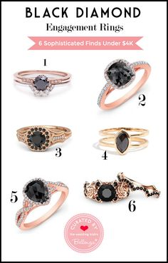 The Mysterious Appeal of a Black Diamond Engagement Ring | The Bellenza Wedding Blog