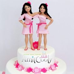 Divija And Divitha Twin Birthday Cakes 3d Fondant Twins Cake