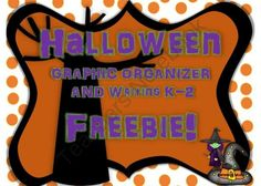 HALLOWEEN K-2 WRITING GRAPHIC ORGANIZER FREEBIE from Sandra H Music on TeachersNotebook.com -  (5 pages)  - HALLOWEEN THEMED WRITING FREEBIE FOR K-2 TREE MAP AND COLORING TOO!