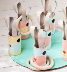 Bunny ring toss game from toilet paper rolls and cardboard // Nyuszis dobójáték wc papír gurigából és kartonpapírból // Mindy - craft tutorial collection // #crafts #DIY #craftTutorial #tutorial #easter #easterCrafts #DIYEaster