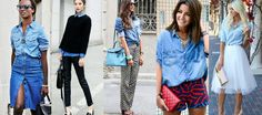 Koszula dżinsowa damska - 25 stylizacji STREET STYLE #style #fashion #jeans #bloggers
