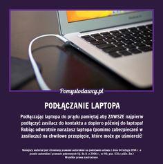 NIE POPEŁNIAJ TEGO BŁĘDU PODŁĄCZAJĄC LAPTOPA BO MOŻE CIĘ SPORO KOSZTOWAĆ! Computer Keyboard, Life Hacks, Advice, Internet, Crafty, Website, Phone, Techno, Wi Fi