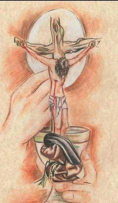 Dibujo cristiano católico.