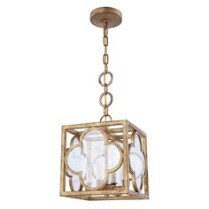Elegant Lighting Trinity 4 Light Foyer Pendant Finish: Golden Iron, Size: H x W x D 3 Light Pendant, Pendant Lighting, Dining Lighting, Gold Pendant, Outdoor Lighting, Mini Chandelier, Lighting Store, Hallway Decorating, Do It Yourself Home