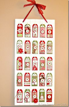 I LOVE advent calendars! This is a cute one!