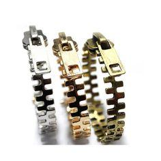 Fashion Punk Style Zipper Shape Bracelet ($3.76) ❤ liked on Polyvore featuring jewelry, bracelets, color assorted, zipper jewelry, punk rock jewelry and punk jewelry