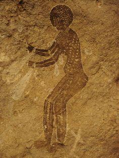 Ancient America Sacred Cave Art - Yellow Diamond Harvest # 3