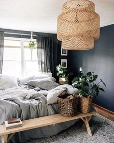 Wayfair lets you find the designer products in the photo and get ideas from thousands of other Eclectic Bedroom Design photos. Get inspired by Eclectic Bedroom Design photo by French Bedroom Decor, Bohemian Bedroom Design, Rustic Bedroom Furniture, Bedroom Decor For Couples, Diy Home Decor Bedroom, Small Room Bedroom, Cozy Bedroom, Small Rooms, Master Bedrooms