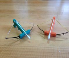 Simple Q-tip crossbow 3d printing design.Instructable by:DeLaina McDonald and Serena Nguyen