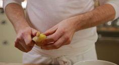 Zoete aardappelstamppot met hüttenkäse.  Ipv kip wokstukjes toevoegen. Scheutje tabasco geeft wat meer pit en smaak.