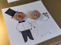 kort, bryllupskort, diy, brud, gom Special Wedding Gifts, Prom Decor, Wedding Cards Handmade, Crafts With Pictures, Baby Sewing, Diy Cards, Homemade Cards, Crafts For Kids, Greeting Cards