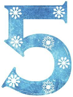 Free Frozen Snowflake Numbers, perfect for Frozen party.