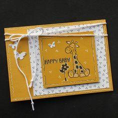 Oker kaarten met girafjes