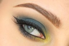 """""""Navy peacock"""" by MeLady using the Makeup Geek Latte, Peacock and Pixie Dust eyeshadows with Liquid Gold pigment."""