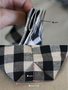 マチの作り方Aタイプよりもさらに簡単な方法です こちらは表、裏布が一体にはなりません マチの形もかわいいので、小さなポーチ向きかもしれません