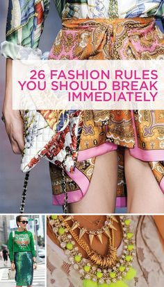 """Some things to bear in mind or maybe to reassure you that what you are doing was right all along! I particularly like """"20. Less is more is another bogus rule — more is more!"""", this is definitely how I feel about the way I wear my jewelry!"""