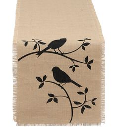 Another great find on #zulily! For the Birds Burlap Table Runner by Design Imports #zulilyfinds