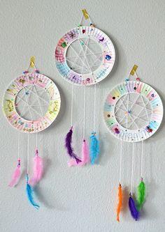 Paper Plate Dream Catchers