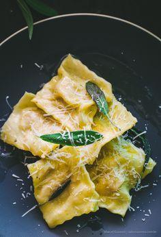ravioli de queijo e abóbora receita