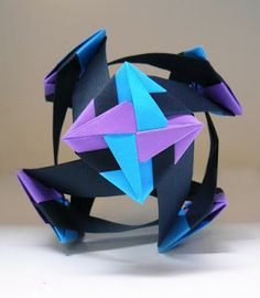 Origami Maniacs: Origami Santiago Flower Ball By Mette Pederson