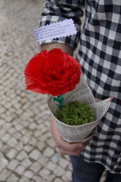 St Anthony's festivities, Lisbon Traditional bush basil with carnation and popular quatrain