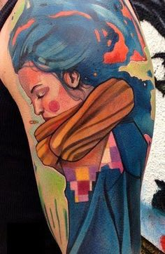 Watercolor Tattoos that are visually stunning. The lack of heavy outline is the key to it's appeal.