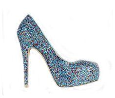 Diamant-ultra high-Heel sexy Damen Hochzeit Schuhe , 35 - Sandalen für frauen (*Partner-Link)
