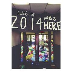 The 23 Best High School Senior Pranks Of 2014 Senior Year Pranks, Best Senior Pranks, Senior Year 2015, School Pranks, School Humor, Senior 2018, April Fools Pranks, April Fools Day, Graduation 2016