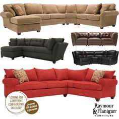 The Red Sectional** Vegas 2   Pc. Sectional Sofa   Raymour