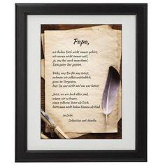 Verschenke rührende Worte zum Vatertag. Dieses Bild mit Gedicht wird Deinem Vater mit Sicherheit viel Freude bereiten. via: www.monsterzeug.de