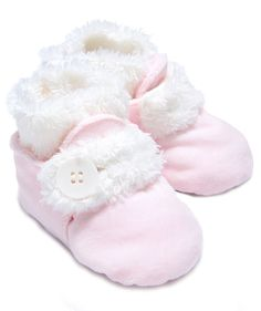 Baby Girl Winter Premier Booties – Pink | Hallmark Baby  I need this for the girls coming home outfit!