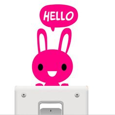 Cute Bunny Light Switch Wall Sticker Removable Vinyl  #awesomesauce