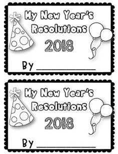 New Year Fun {New Year's Resolution Book} {Updated for 2018} UPDATED FOR 2018!! This resolution book is a fantastic way to get your students ready for the New Year with a fun writing activity! Each student will use their own personal book to help them understand and keep track of their goals and promises for 2018 and reflect back on 2017!