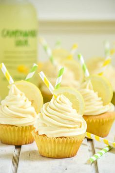 Pisco Sour Cupcakes with Lemon Pisco Frosting