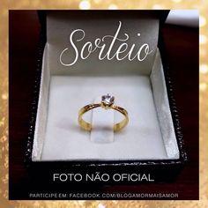 Tem sorteio lindo lá no Facebook tbm: Solitário OURO 18k e DIAMANTE! 😍 Clique no LINK DO PERFIL e participe! 🔝