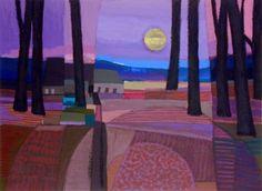 Landscape Paintings and photographs : ton schulten - Photography Magazine Pastel Landscape, Contemporary Landscape, Landscape Art, Landscape Paintings, Futurism Art, Dutch Artists, Colorful Paintings, Painting Inspiration, Art Pictures