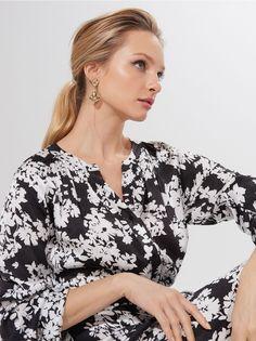 Wzorzysta sukienka z wiskozy, MOHITO, ZL086-99P Ikon, Lady, Dresses, Vestidos, Dress, Icons, Gown, Outfits, Dressy Outfits