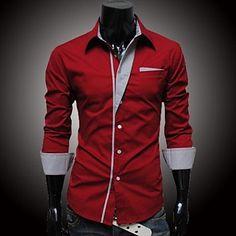 Men's Striped Long Sleeved Shirt - EUR € 13.08