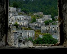 """The """"Ghost Town"""" of Kayaköy in Levisii, Turkey was once inhabited by a substantial Greek Orthodox Christian population until the internationally agreed exchange of populations between the new Republic of Turkey and Greece in Photo by Butch Osborne. People Around The World, Around The Worlds, Greek Town, Greek Culture, Window View, Ghost Towns, Abandoned Places, Storytelling, Mount Rushmore"""