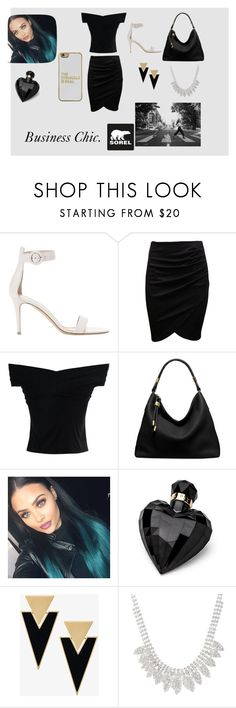 """""""Kick Up the Leaves (Stylishly) With SOREL: CONTEST ENTRY"""" by thatonefashionista ❤ liked on Polyvore featuring Gianvito Rossi, Chicwish, Michael Kors, Lipsy, Yves Saint Laurent, BaubleBar, SOREL and sorelstyle"""