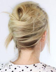 Coiffure facile cheveux carré - 50 coiffures faciles et rapides  - Elle