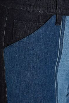 Tonal-blue stretch-denim Button and concealed zip fastening at front 93% cotton, 5% polyester, 2% elastane Dry clean Made in ItalySmall to size. See Size & Fit notes.