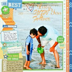 beach scrapbooking layout | family scrapbooking ideas