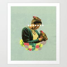 nesting Art Print by Cardboardcities - $19.00