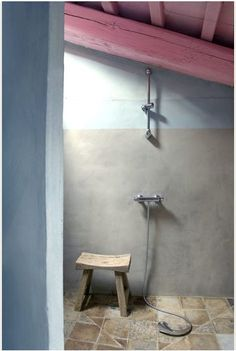 Pastel mind that bathroom attic    Photo: Henri Del Olmo    The trend is to open bathrooms and living rooms become. here at the guest house La Maison de Blauzac, bathroom made by designer Richard Goullet.