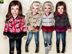lillka's Chic Coat & Heart Skinny Jeans