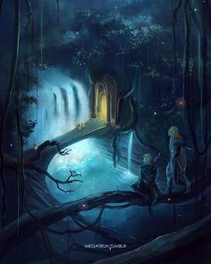 megatruh:  Legolas & Tauriel doing the night watch together :) bigger file on my dA
