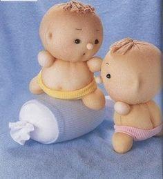 handmade toys: Toys from socks. Sock Toys, Sock Crafts, Sock Animals, Sewing Toys, Soft Dolls, Diy Doll, Cute Dolls, Fabric Dolls, Handmade Toys